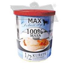 Max deluxe 1/2 kuřete s lososem 800 g různá balení