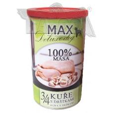 Max deluxe 3/4 kuřete s dršťkami 1200 g různá balení