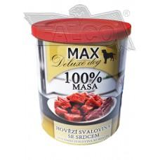 Max deluxe kostky libové hovězí svaloviny se srdcem 800 g různá balení