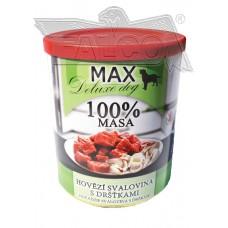 Max deluxe kostky hovězí svaloviny s dršťkami 800 g