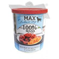 Max deluxe kostky libové hovězí svaloviny s lososem 800 g různá balení