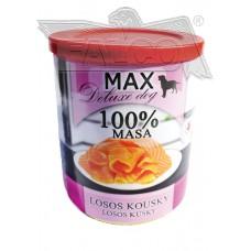 Max deluxe losos kousky 800 g chovatelské balení